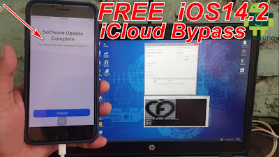 Free iOS14.2 Untethered iCloud Bypass Apple Device iPhone X to 6S Windows Pc.