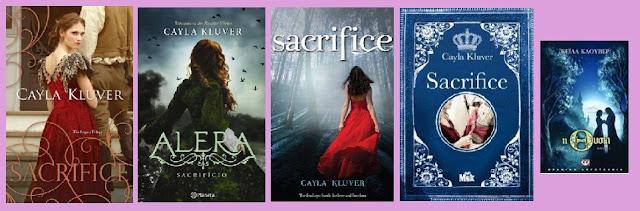 portadas de la novela juvenil de fantasía romántica Sacrifice, de Cayla Kluver