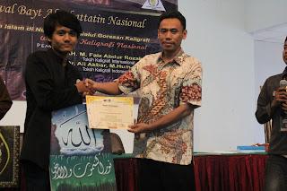 Juara 3 Kaligrafi Nasional