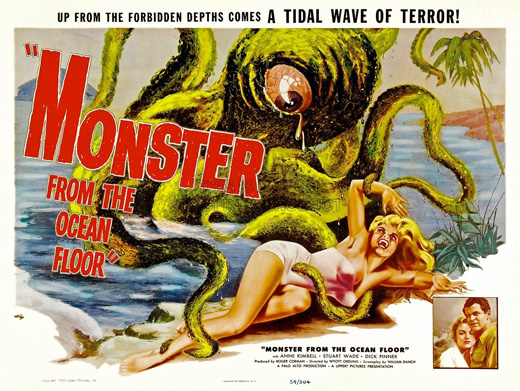 Poster - Monster from the Ocean Floor, 1954