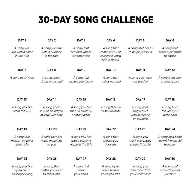 Day 1  A song you like with a colour in the title  (and 29 other questions, but as will become clear, those are irrelevant)