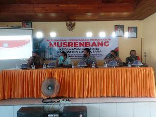 "Hadiri Acara Musrenbang Kecamatan, Kapolsek Masamba ""Batasi Kegiatan Sosial"""