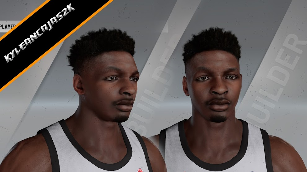 Jae'Sean Tate Cyberface. Hair and Body Model By KyleAncajas2k [FOR 2K21]