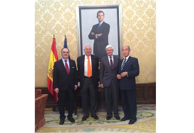 El Real Cuerpo de la Nobleza de Madrid y el Ministro de Asuntos Exteriores y Cooperación