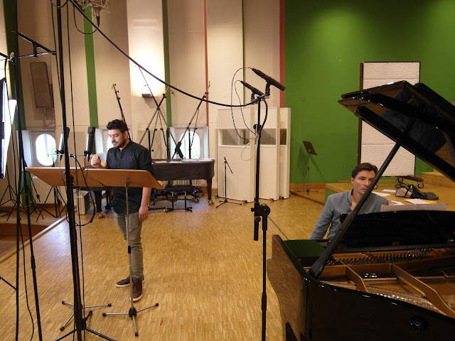 Ilker Arcayürek and Simon Lepper at recording sessions for 'The Path of Life'