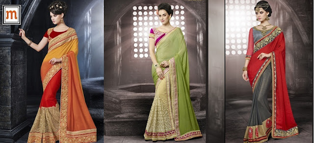 Designer Wedding Wear Sarees at Moksha Fashions