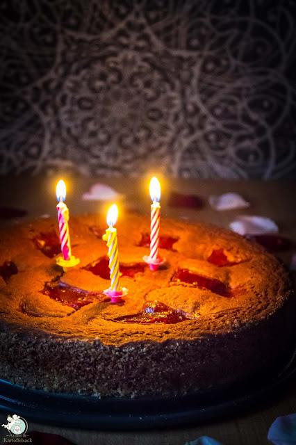 Linzer Torte als Geburtstagskuchen