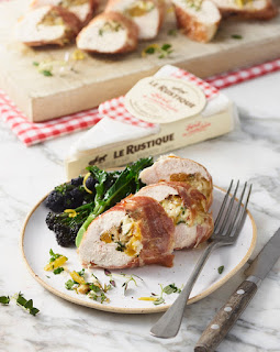 Brie, Apricot and Walnut stuffed chicken