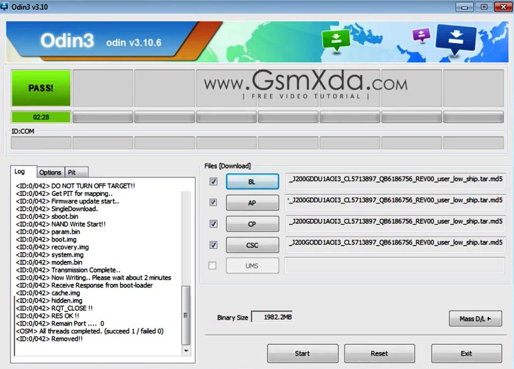 I9001 odin flash file