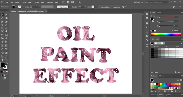 Oil Paint Text Effect in Adobe Illustrator
