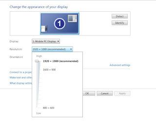 Laptop dengan layar Full HD 1080, 1920x1080 memudahkan designer
