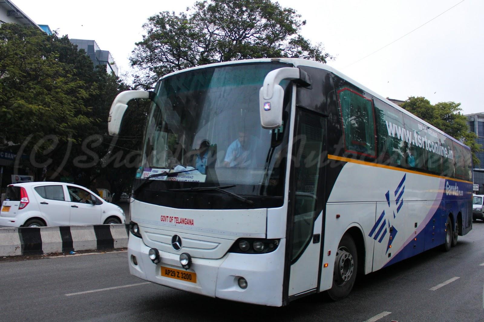 Shantanu Autoclickz: TSRTC Garuda Plus Mercedes Benz Multiaxle Semi Sleeper at Bengaluru.
