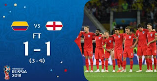 Kolombia vs Inggris 1-1 (3-4) Video Gol Highlights - Piala Dunia 2018