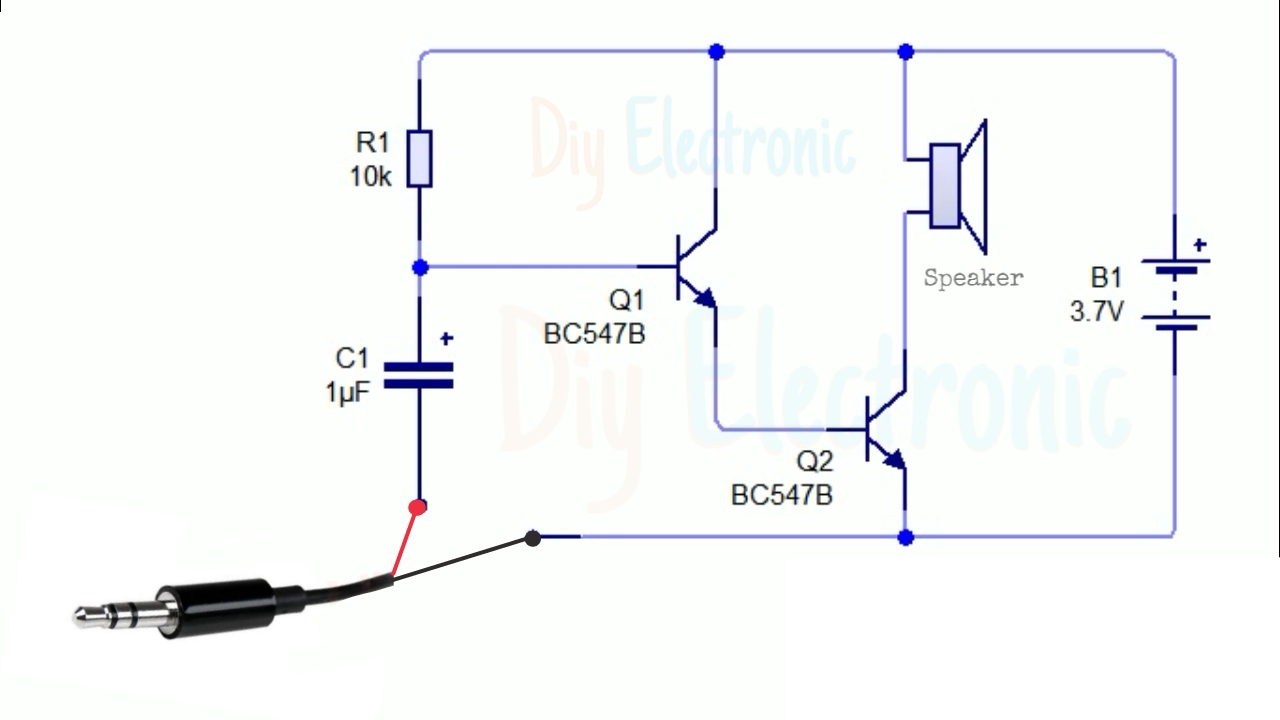 Audio Amplifier Using Bc547 Transistor