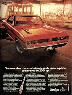 propaganda Dodge Charger RT - 1973, chrysler anos 70, carro antigo chrysler, anos 70, década de 70, propaganda anos 70, Oswaldo Hernandez,