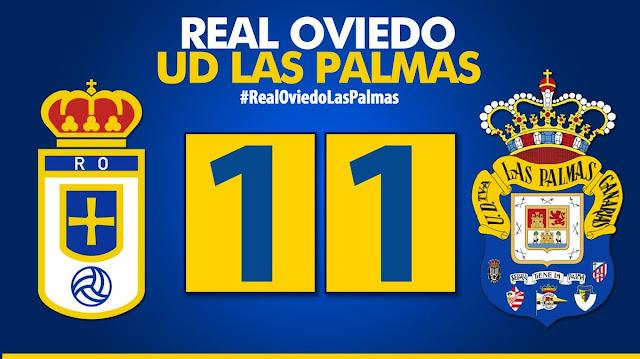 Resultado final Real Oviedo 1-1 UD Las Palmas