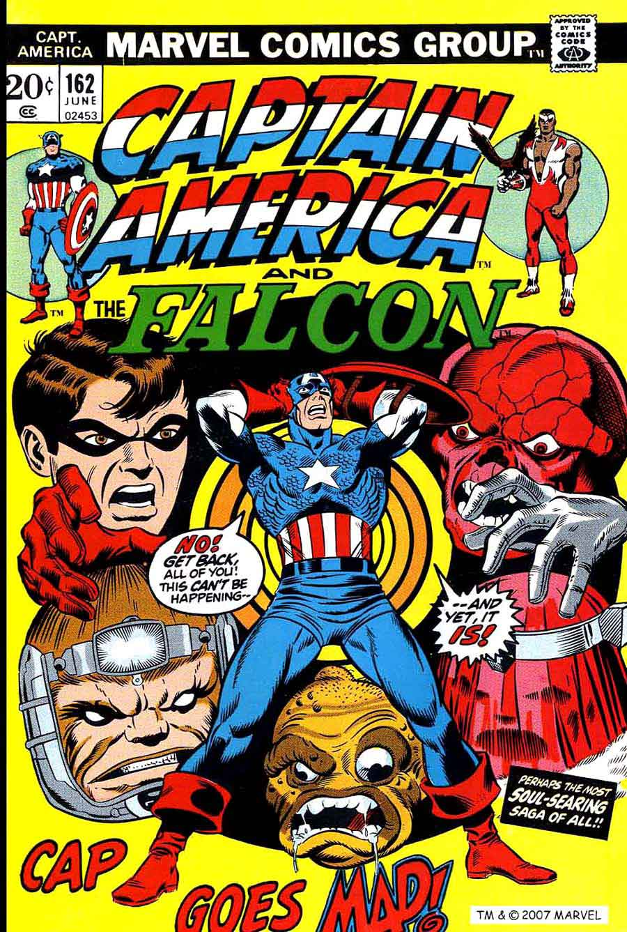 Captain America v1 #162 marvel comic book cover art by Jim Starlin