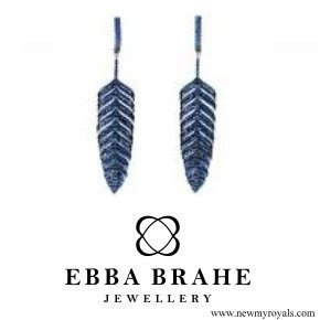 Princess Sofia Jewelry Ebba Brahe Feathers Earrings