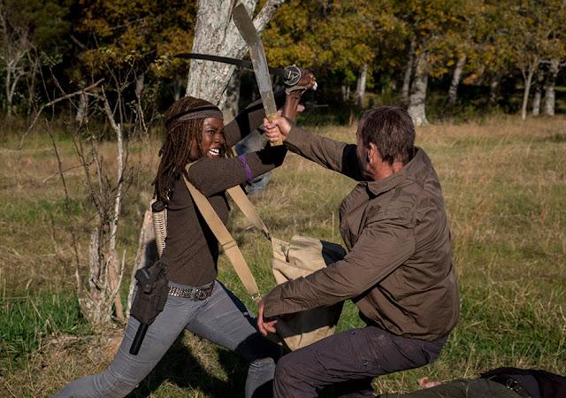 Michonne (Danai Gurira) nell'episodio 16