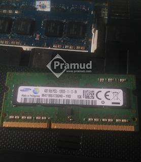 sodimm 4GB samsung DDR3L PC3L-12800 di asus k43sj