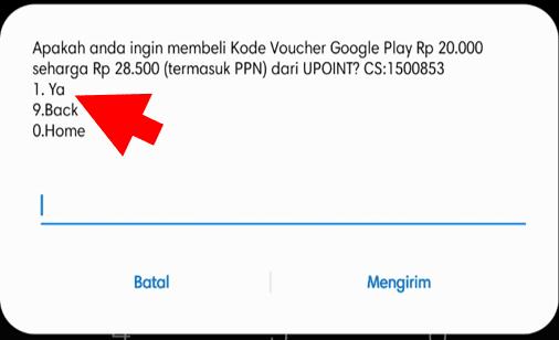 Konfirmasi Pembelian Voucher Google Play