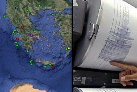Ρεσιτάλ Εγκέλαδου! Τέσσερις σεισμοί μέσα σε μία ώρα στην Κρήτη!