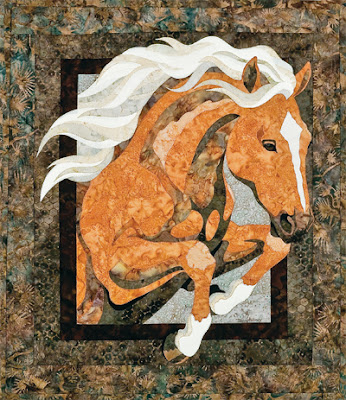 Horse Fusible Applique Quilt Pattern Appliq Patterns