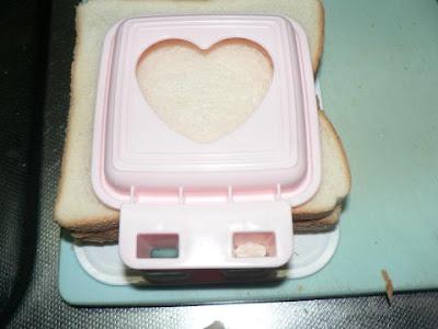 パンを重ねる