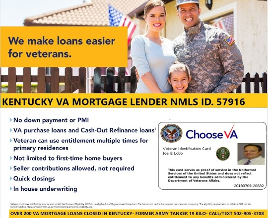 Kentucky VA Mortgage Lender and Broker