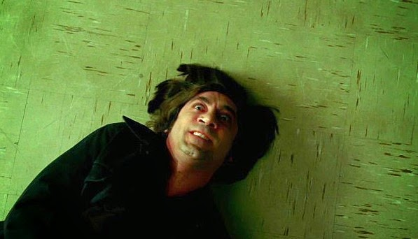 Spanish actor Javier Bardem as the psychopathic hitman Anton Chigurh in No Country for Old Men, Directed by Joel and Ethan Coen