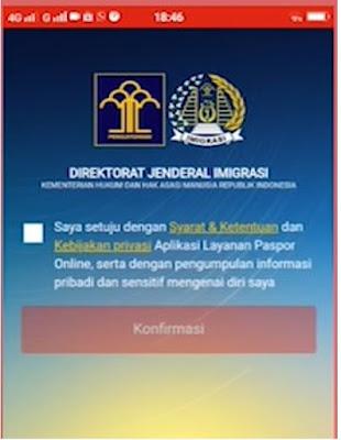 Antrian Paspor Online website