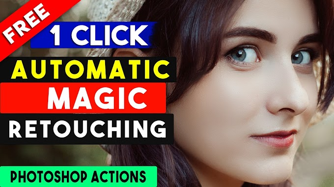 Magic Skin Retouching Photoshop Action - Free Download