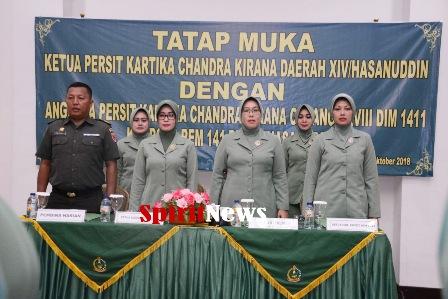 Ketua Persit Kartika Chandra Kirana Daerah XIV/Hasanunddin Tatap Muka di Bulukumba