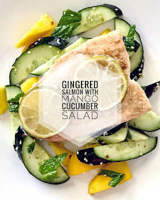 Gingered Salmon with Mango Cucumber Salad