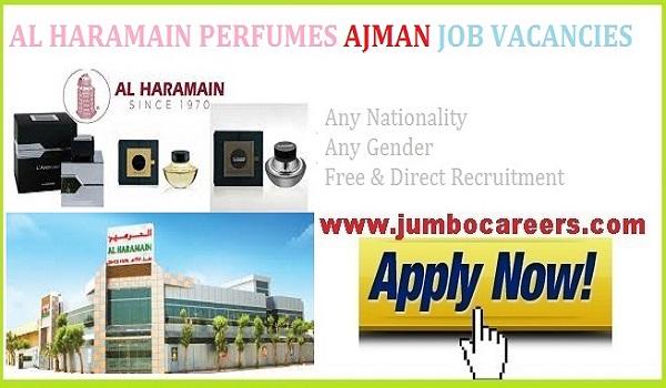 perfume company jobs 2021,