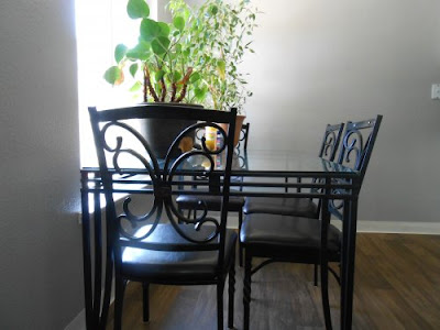 chairs, table, plants