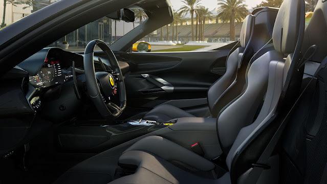 the SF90 Spider interior