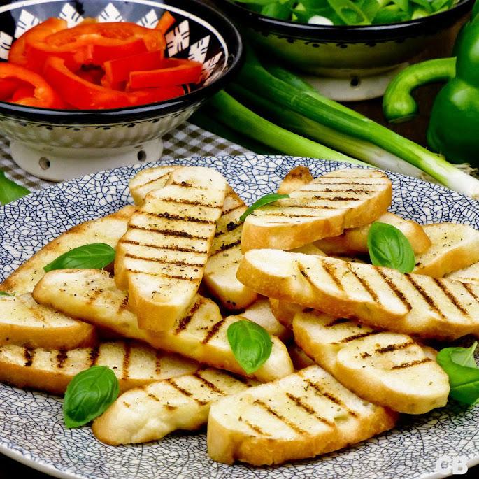 Gegrild knoflookbrood