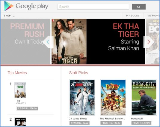 Goolge Play Movies Now Available in India