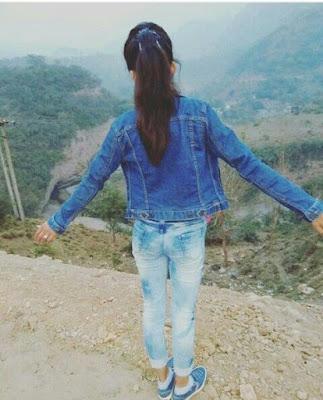 Girl on hike image