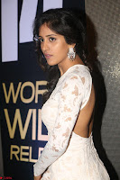 Chandini Chowdary in white Tight dress at Shamanthakamani pre release function ~  Exclusive 042.JPG
