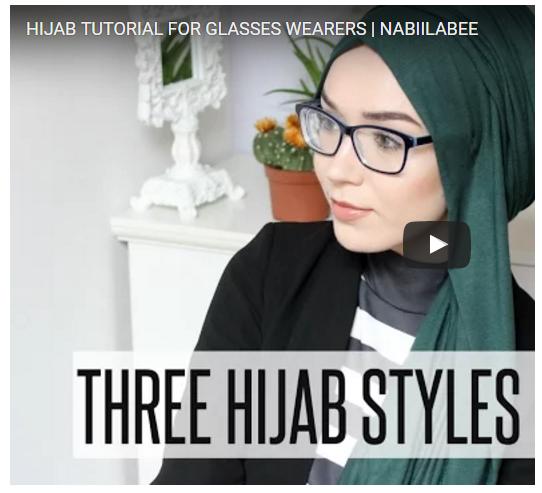 Gambar Tutorial Hijab Cantik Buat Wanita Berkacamata