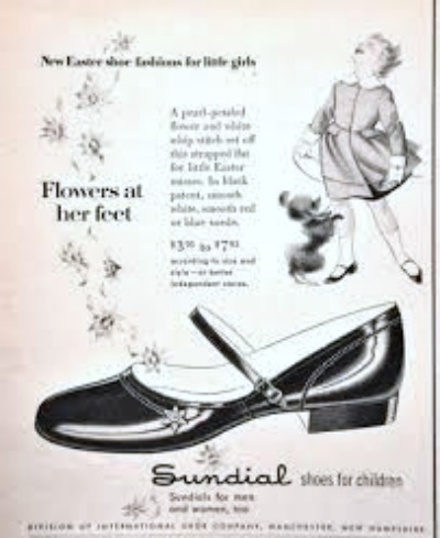 Sundial Brand Patent Leather Shoe Ad