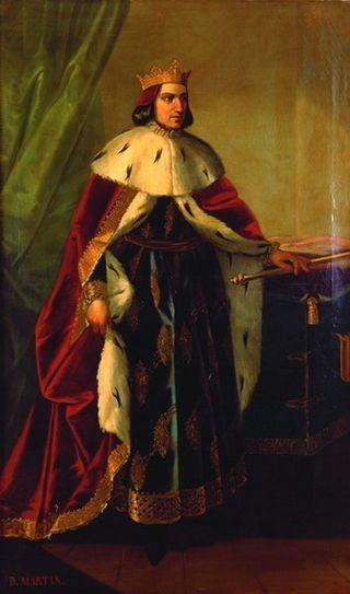 Retrato imaginario de Martín I de Aragón, de Manuel Aguirre y Monsalbe. Ca. 1851-1854. (Diputación Provincial de Zaragoza).