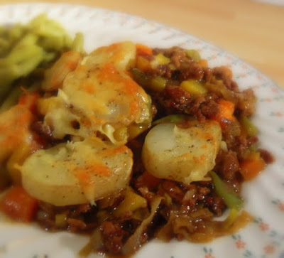 Cottage Pie with Potato Cobbles