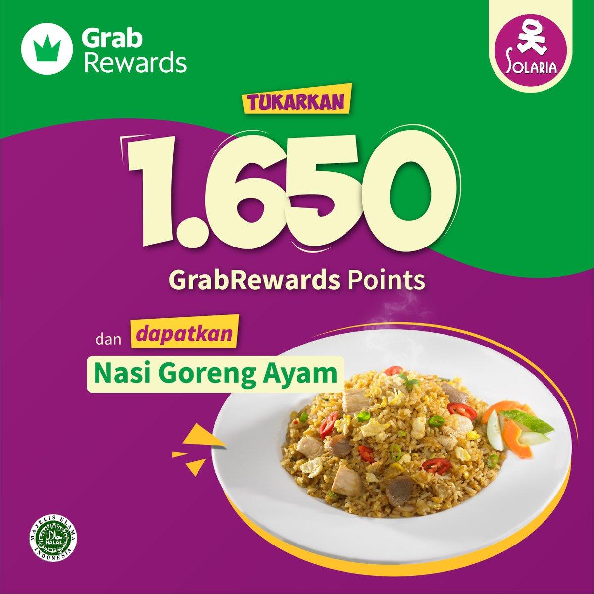 Solaria - Promo Gratis 1 Nasi Goreng Dengan Tukar 1650 Grab Reward Point