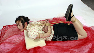 Naughty Girl - Chinese girls hogtied like animals #21