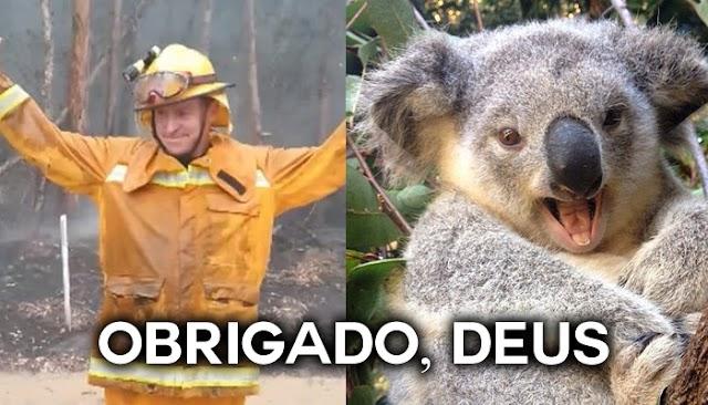 Chuva cai sem parar na Austrália e bombeiros e voluntários oram para agradecer à Deus