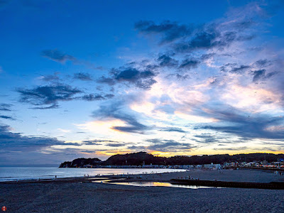 Summer evening sky: Yuigahama-beach
