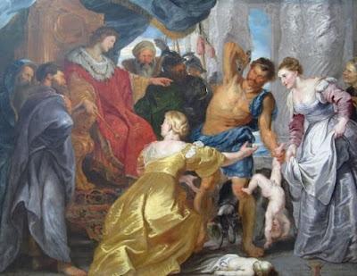 El juicio de Salomón - Peter Paul Rubens